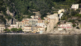 Cetara. Immediately after Vietri, is one of the first towns of the Amalfi Coast Royalty Free Stock Photo