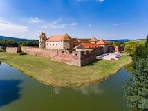 Cetatea Fagaras medeltida fästning i det Brasov länet Arkivbild