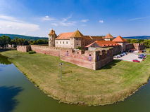 Cetatea Fagaras medeltida fästning i det Brasov länet Rumänien Arkivfoton