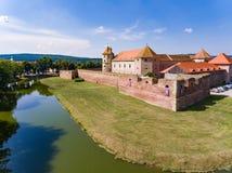 Cetatea Fagaras medeltida fästning i det Brasov länet Rumänien Fotografering för Bildbyråer