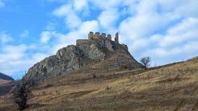 Cetatea Trascăului. It was built around 1296 vice Thorotzkay of Trascău the ruler, the city housing and retreat Stock Photography