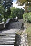 Cetatuia-Park-Treppe in Klausenburg--Napocastadt von Siebenbürgen-Region in Rumänien stockfotos
