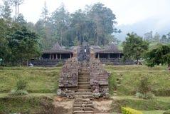 Cetho寺庙/Candi Cetho,位于Karanganyar, Java,印度尼西亚 图库摄影