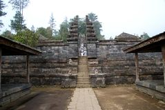 Cetho寺庙/Candi Cetho,位于Karanganyar, Java,印度尼西亚 免版税图库摄影