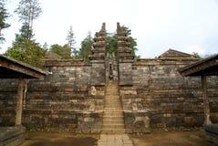 Cetho寺庙/Candi Cetho,位于Karanganyar, Java,印度尼西亚 免版税库存图片