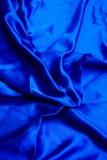 Cetim azul Foto de Stock Royalty Free