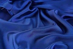 Cetim azul Fotografia de Stock Royalty Free