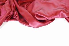 Cetim vermelho Imagens de Stock Royalty Free