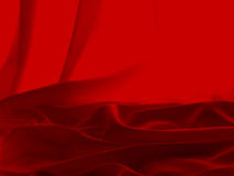 Cetim vermelho Fotografia de Stock