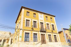 The City Hall building of Cetina town. The Cetina City Hall building, province of Zaragoza, Aragon, Spain royalty free stock photos