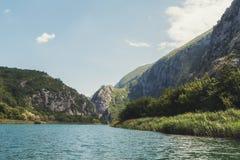 Cetina river canyon near town Omis. Stock Photo