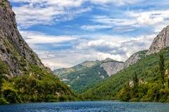 Cetina River Canyon Royalty Free Stock Images