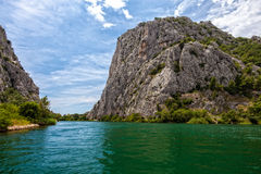Cetina River Canyon Royalty Free Stock Images
