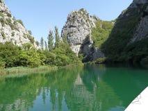 Cetina river. In Croatia in Europe stock photos