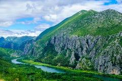 Cetina River, Croatia. View of the Cetina River, near Omis, in Dalmatia, Croatia stock images
