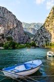 The Cetina River. In Omis city, Croatia stock image