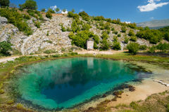 Cetina water source spring in Croatia. Cetina water source karst spring in Croatia stock photos