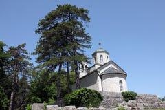 cetinje教会现场正统的montenegro 库存图片
