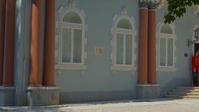 Cetinje Blauw Paleis stock video