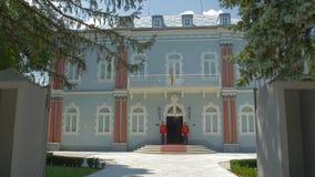Cetinje Blauw Paleis stock footage