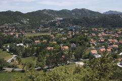 Cetinje city stock photography