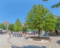 Cetinje Dvorski square promenade Royalty Free Stock Photo