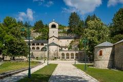 Cetinje klosterKristi födelse av den välsignade oskulden Arkivfoto