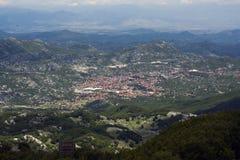 Cetinje Luftaufnahme stockfotos