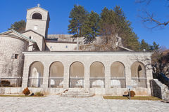 Cetinje Monastery in Cetinje. Cetinje Monastery in Montenegro. Founded in 1484 by Ivan Crnojevic, current view since 1927. Seat of Eparchy of Montenegro and Royalty Free Stock Image