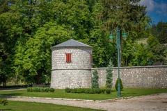 Cetinje monastery fortress tower Stock Photo