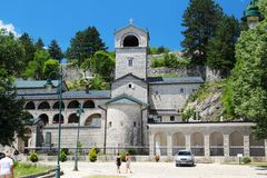 The Cetinje Monastery, Montenegro. The Cetinje Monastery is a Serbian Orthodox Church monastery in Montenegro stock image