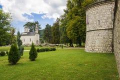 Cetinje Montenegro (den forntida huvudstaden av Montenegro) royaltyfri fotografi