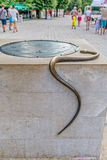 Cetinje snake on the well Royalty Free Stock Photo