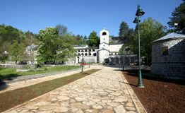 Cetinjski monastery. Montenegro Cetinje monastery old town tourist stock photos