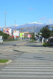 Cetinjski Put street. Podgorica, Montenegro, November, 2015: View of Cetinjski Put street in Podgorica, Montenegro Royalty Free Stock Photography