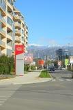 Cetinjski Put street. Podgorica, Montenegro, November, 2015: View of Cetinjski Put street in Podgorica, Montenegro Stock Photography