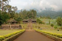 Ceto寺庙在中爪哇省 免版税库存图片