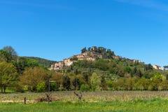 Cetona, uma das vilas as mais bonitas de Itália imagens de stock