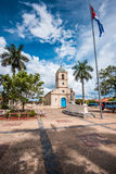 Cetral square in cuban village of Vinales. With beautiful sky Royalty Free Stock Photography
