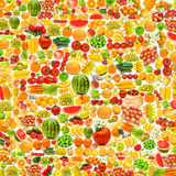 Cetrioli fatti da molta frutta Fotografia Stock Libera da Diritti