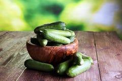Cetrioli freschi cetrioli per la dieta ed il cibo sano Fotografia Stock
