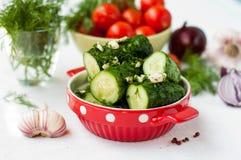 Cetrioli salati fotografia stock