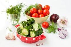 Cetrioli salati Fotografia Stock Libera da Diritti