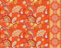 Cetrioli turchi Motivo orientale Ornamento e confine senza cuciture per i tessuti, carta da parati, fondo Illustrazione di vettor illustrazione vettoriale