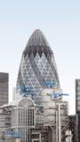 Cetriolino di Londra Fotografie Stock
