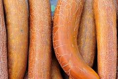 cetriolo che vende al mercato di agricoltura Immagine Stock
