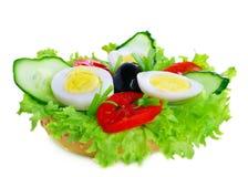 Cetriolo fresco del sengvich dell'uovo Immagini Stock
