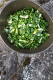 Cetriolo, limone, erba cipollina ed insalata dell'aneto Fotografia Stock