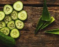 Cetriolo verde Fotografie Stock Libere da Diritti