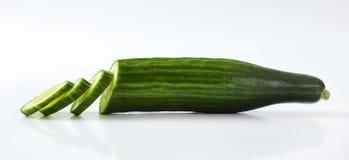 Cetriolo verde affettato Fotografia Stock